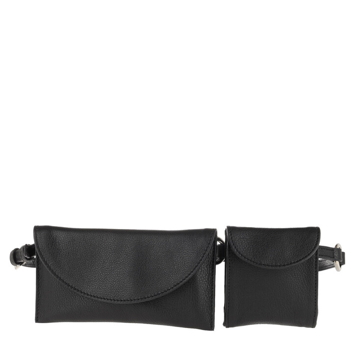 Handtasche, Abro, Piece Belt Bag Black/Nickel