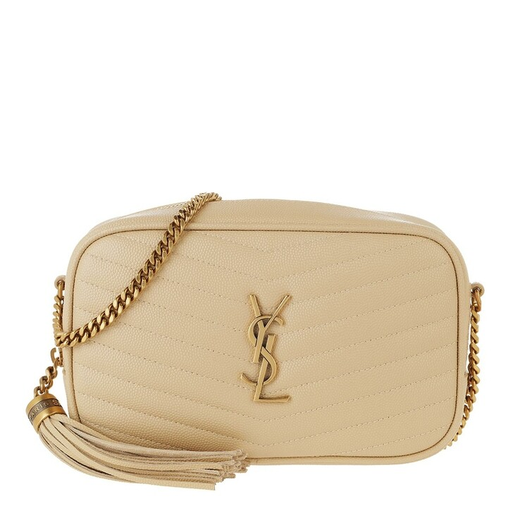 Handtasche, Saint Laurent, YSL Monogram Mini Crossbody Bag Leather Avorio
