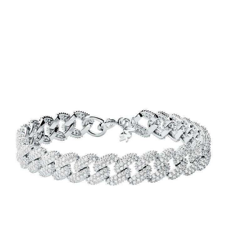 bracelets, Michael Kors, Statement Link 14k Gold-Plated Bracelet Silver