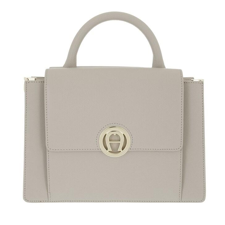 bags, AIGNER, Livia Handbag Clay Grey