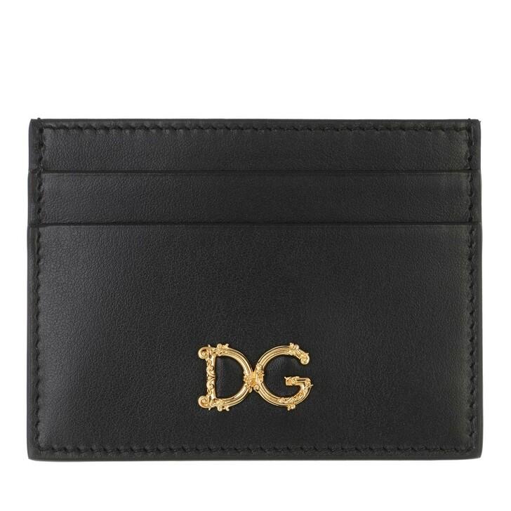 wallets, Dolce&Gabbana, Credit Card Holder Black