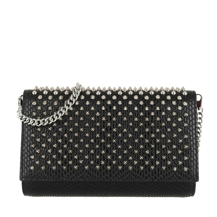 Handtasche, Christian Louboutin, Small Paloma Crossbody Bag Leather Black
