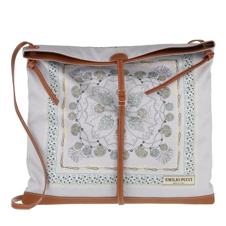 bags, Emilio Pucci, Hobo Bag Conchiglie 46X46 Glicine/Acqua