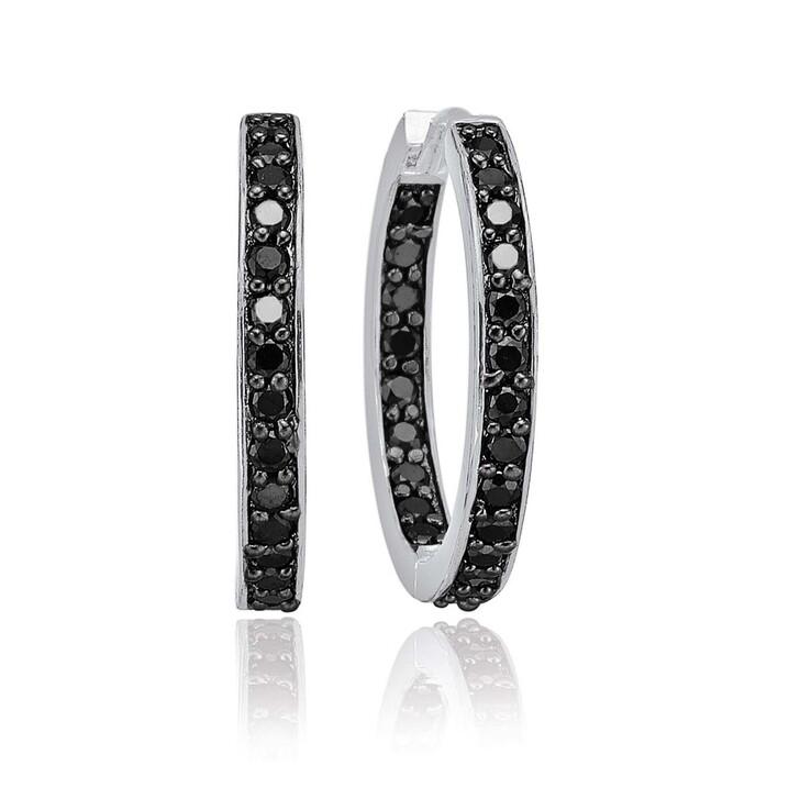 Ohrring, Sif Jakobs Jewellery, Corte Earrings Black Zirconia Silver