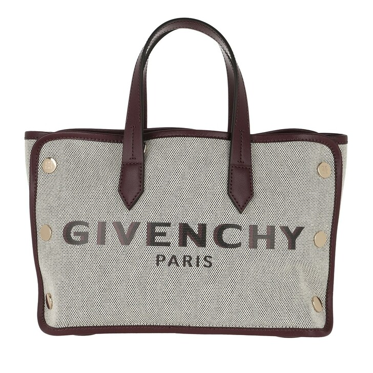 Handtasche, Givenchy, Mini Tote Bag Canvas Aubergine