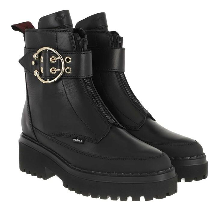 Schuh, Nubikk, Fae Ray Ladies Ankle Boot Black Mirror Leather
