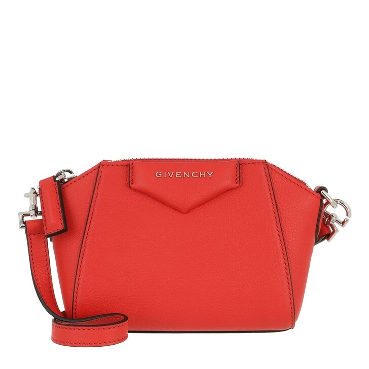 Handtasche, Givenchy, Nano Antigona Crossbody Bag Goatskin Light Red