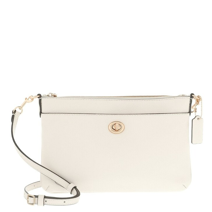 Handtasche, Coach, Excl Naw Polished Pebble Polly Crossbody Chalk