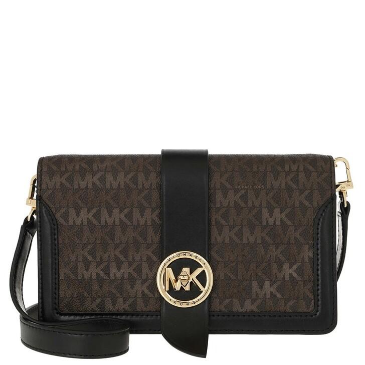 Handtasche, MICHAEL Michael Kors, Charm MD Triple Gsst Crossbody Bag Brown Black