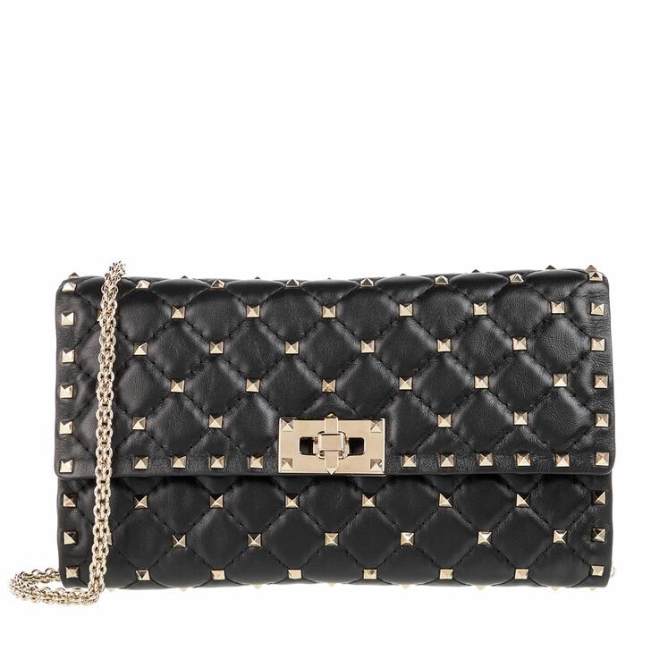 Handtasche, Valentino, Rockstud Spike Shoulder Bag Black