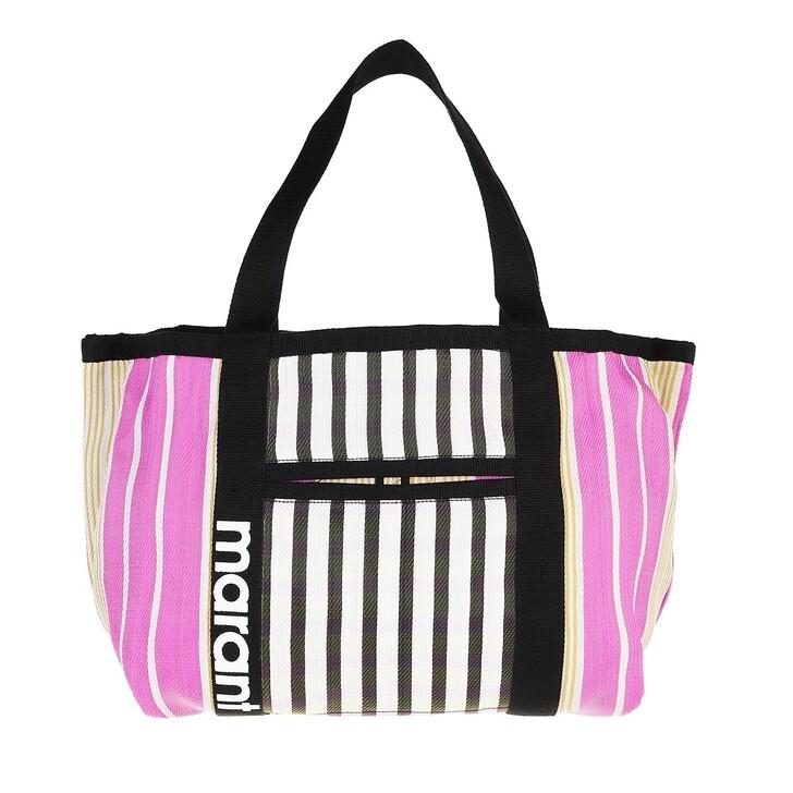 bags, Isabel Marant, Medium Darwen Shopper Black/Pink