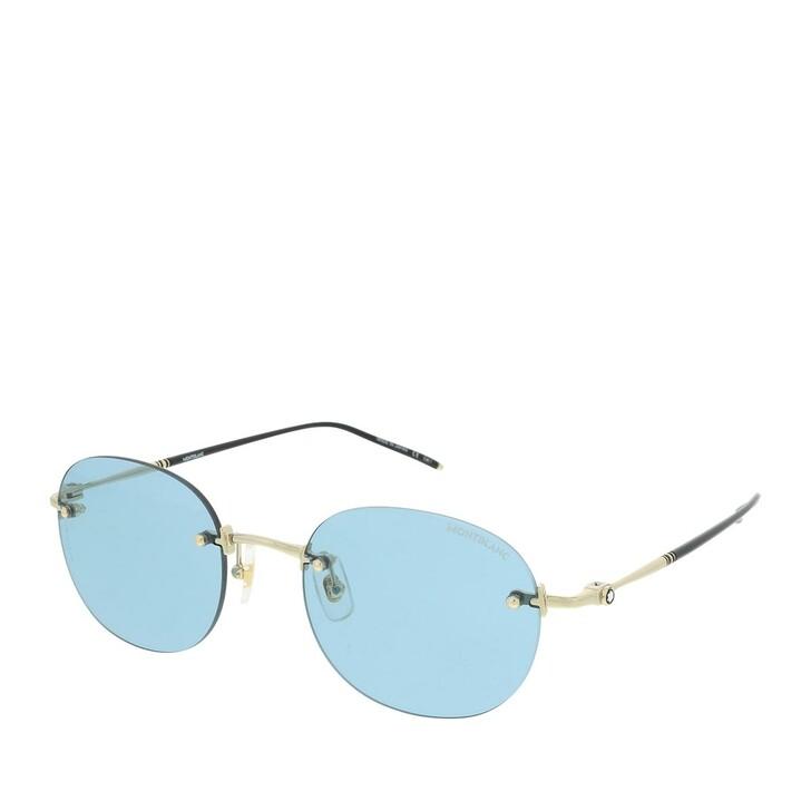 Sonnenbrille, Montblanc, MB0126S-009 54 Sunglass MAN METAL Gold