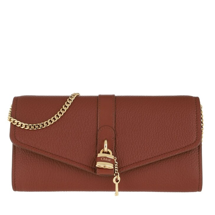 Handtasche, Chloé, Aby Wallet on Chain Sepia Brown