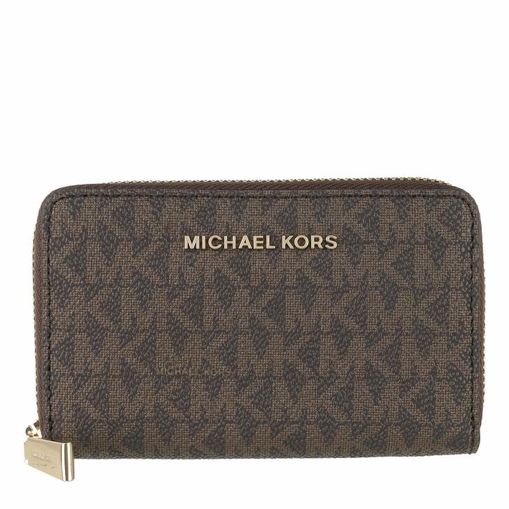 Geldbörse, MICHAEL Michael Kors, Small Card Case Brown/Acorn
