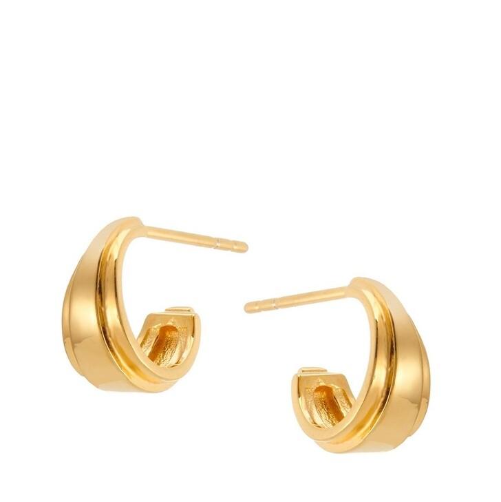 Ohrring, V by Laura Vann, Angelina Mini Hoop Earrings Yellow Gold