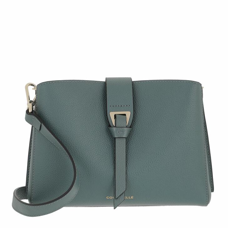 bags, Coccinelle, Alba Handbag Bottalatino Leather Shark Grey
