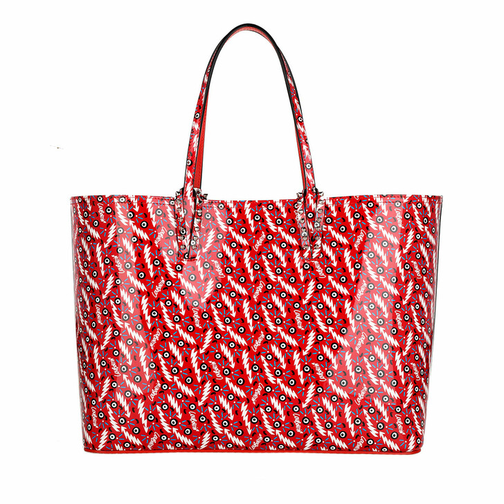 Handtasche, Christian Louboutin, Cabata Shopping Bag Leather Loubi Red