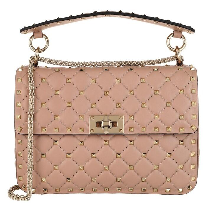 Handtasche, Valentino Garavani, Rockstud Spike Medium Crossbody Leather Poudre