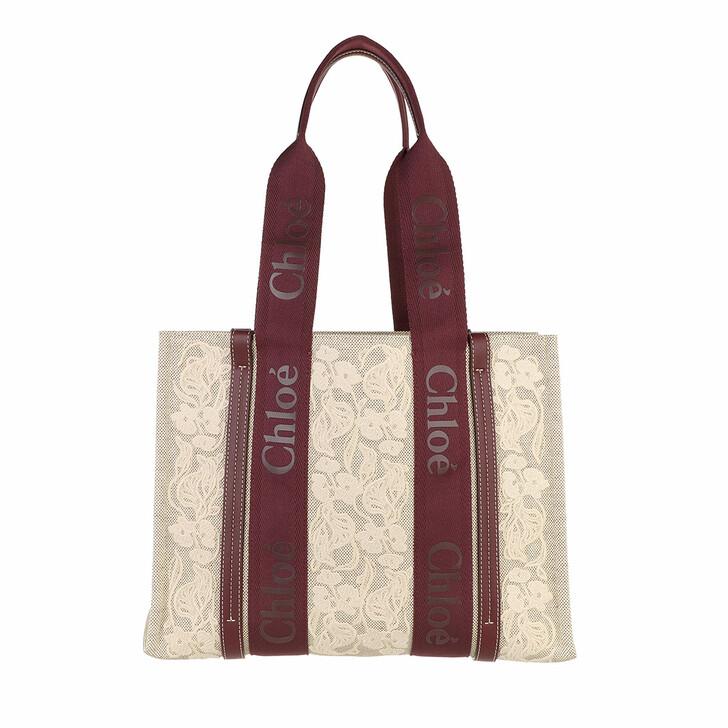 bags, Chloé, Woody Small Tote  Burgundy