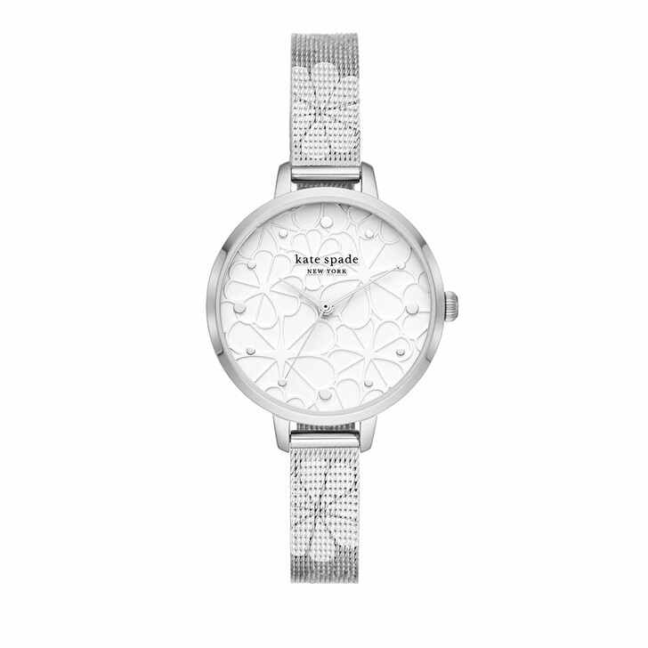 Uhr, Kate Spade New York, Metro three-hand mesh stainless steel watch Silver