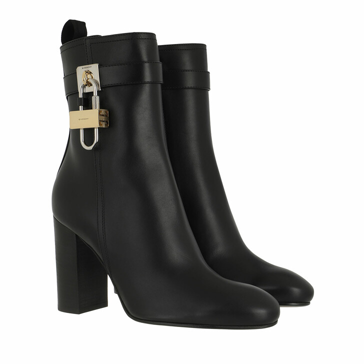 shoes, Givenchy, Padlock Ankle Boots Leather Black
