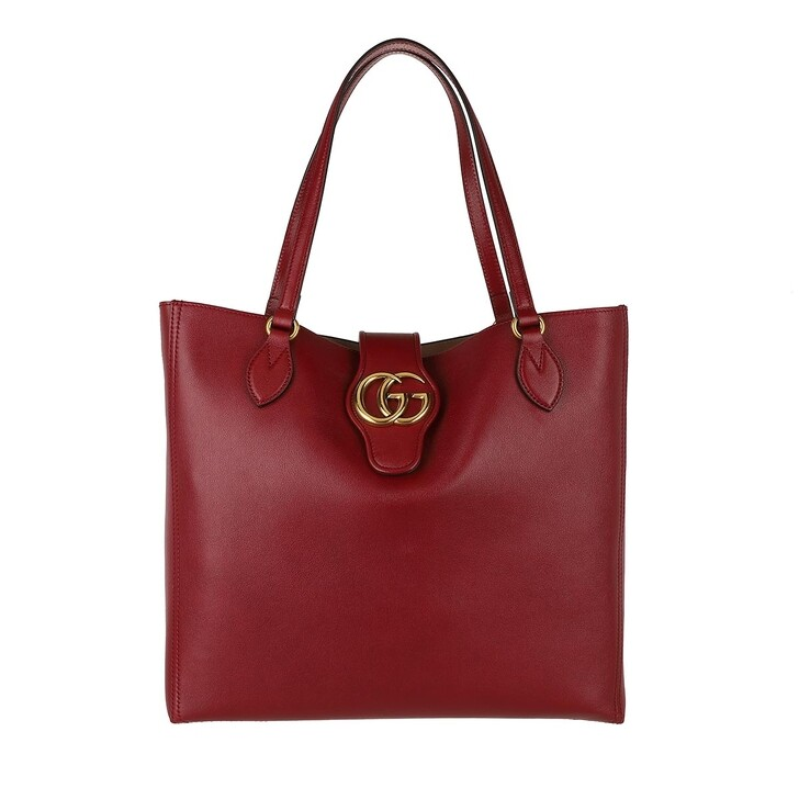 Handtasche, Gucci, Dhalia Tote Bag Leather New Cherry Red