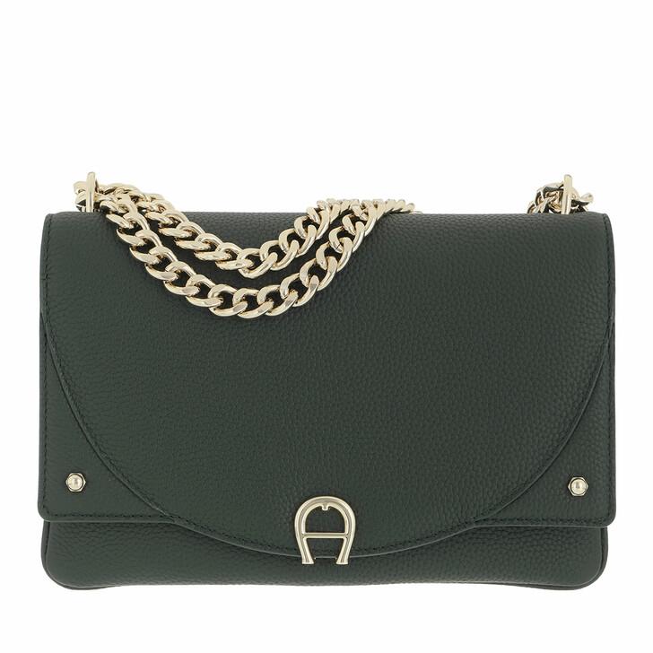 bags, AIGNER, Diadora Crossbody Bag Deep Green