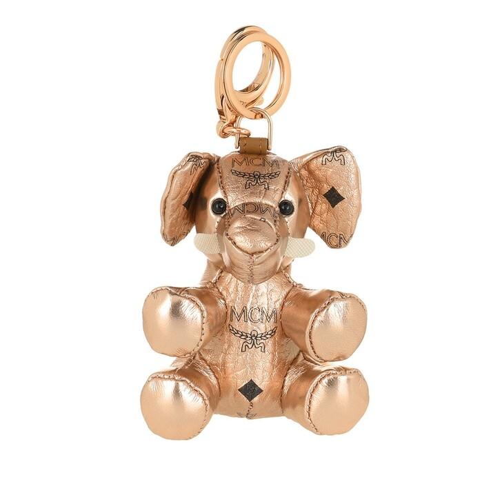 Schlüsselanhänger, MCM, Mcm Zoo Elephant Charm Champagne Gold