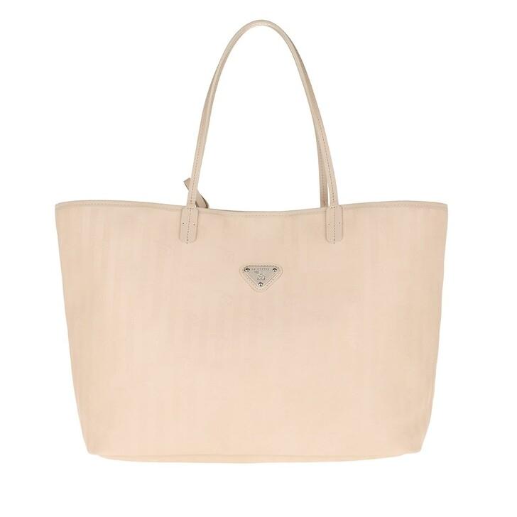 Handtasche, Maison Mollerus, Zuerich Shopping Bag Pearl/Silver
