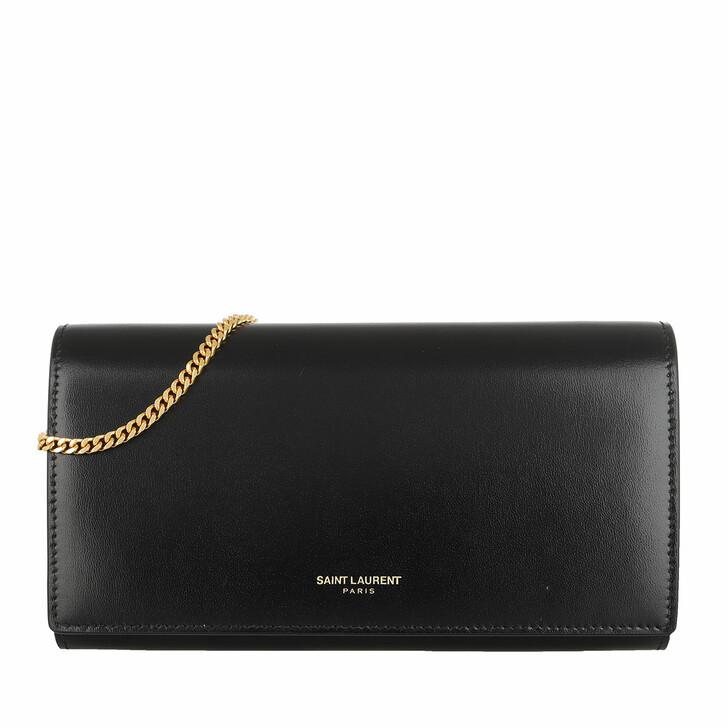 Geldbörse, Saint Laurent, Wallet Leather Black