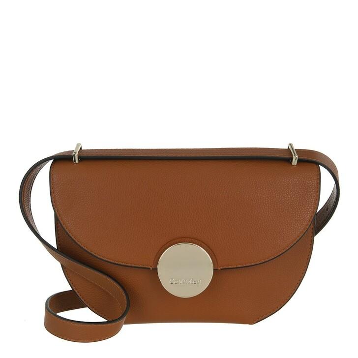 bags, Calvin Klein, CK Luxe Ew Shoulder Bag Caramel
