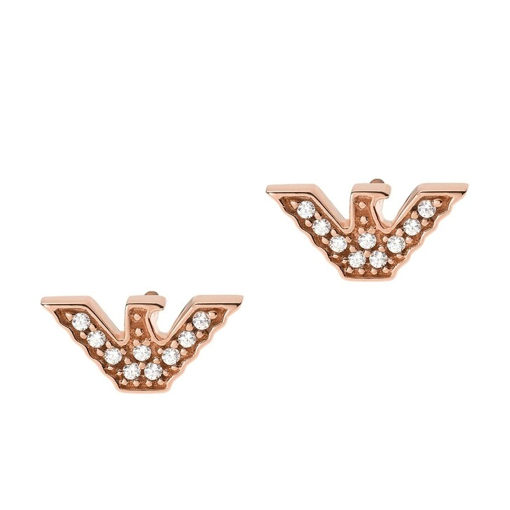 Ohrring, Emporio Armani, Sterling Silver Eagle Stud Earring Roségold