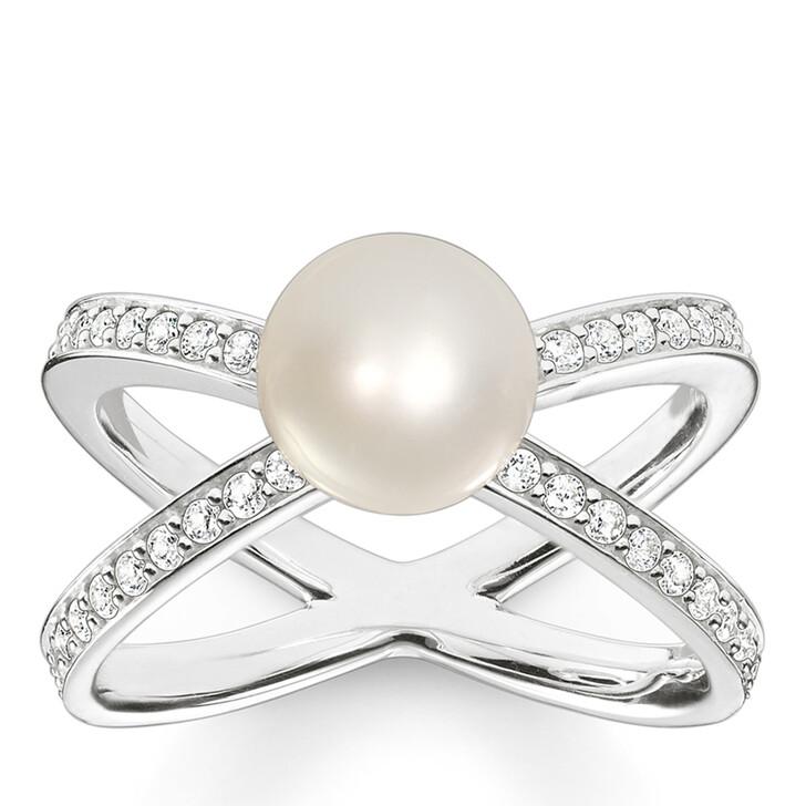 rings, Thomas Sabo, Ring Pearls  Silver