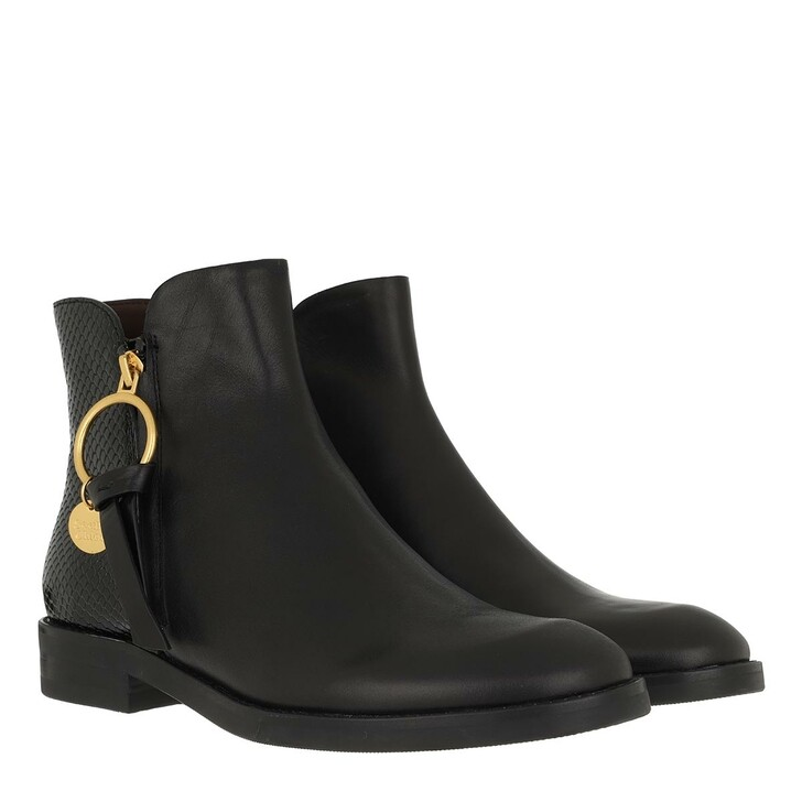 shoes, See By Chloé, Bootie Leather Black