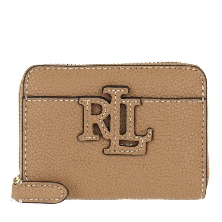 wallets, Lauren Ralph Lauren, Logo Zip Wallet Small Nude