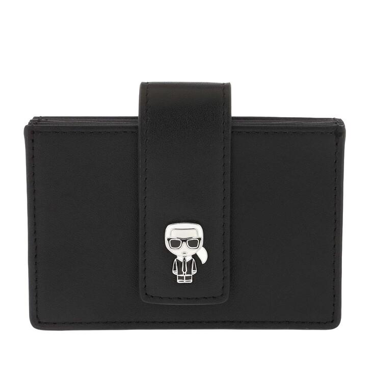 Handtasche, Karl Lagerfeld, Ikonik Multi Gusset Cardhldr Black