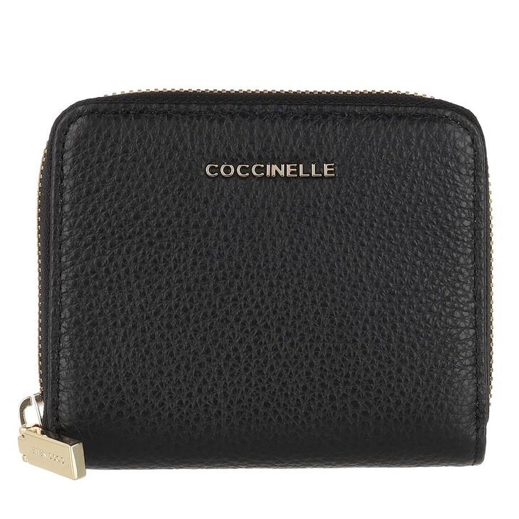 Geldbörse, Coccinelle, Wallet Grainy Leather Noir