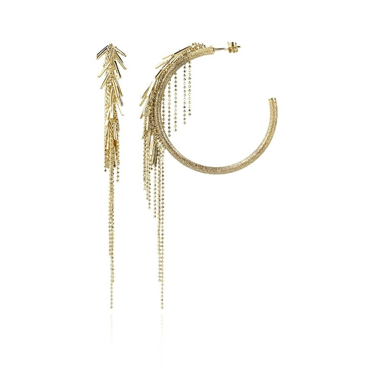 Ohrring, LOTT.gioielli, CL Earring Vibes Brushed Creole Waterfall  Gold