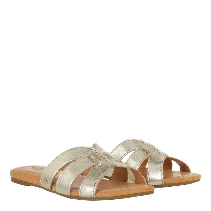 Schuh, UGG, Teague Sandal Gold Metallic