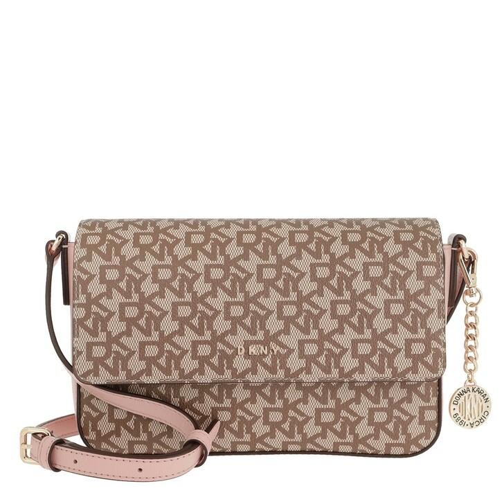 Handtasche, DKNY, Bryant Medium Flap Crossbody Bag Chino/Cashmere