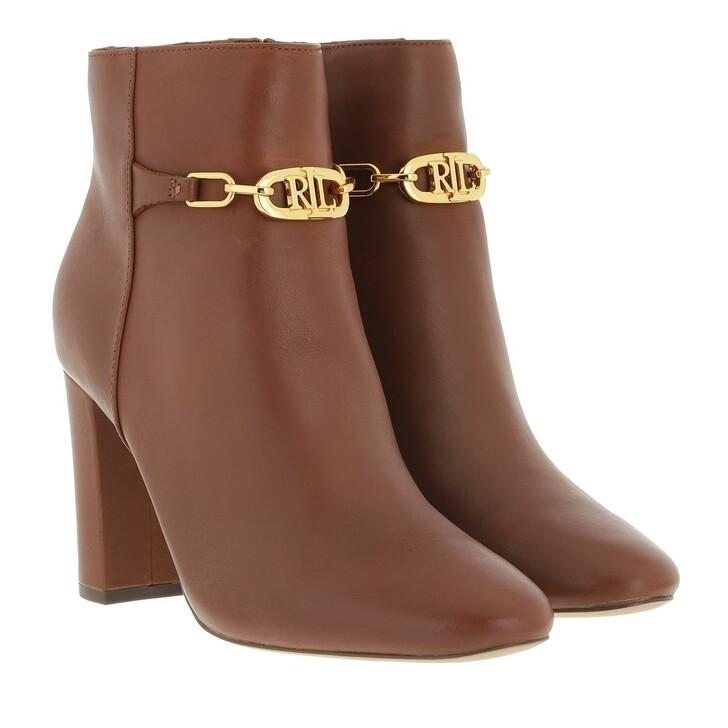 shoes, Lauren Ralph Lauren, Meredith Boots Bootie Deep Saddle Tan