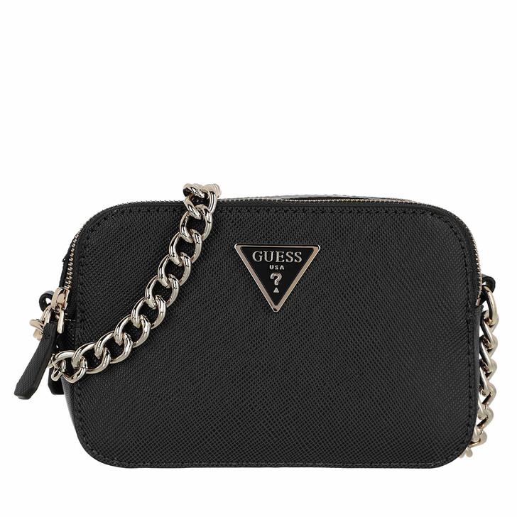 bags, Guess, Noelle Crossbody Camera Black