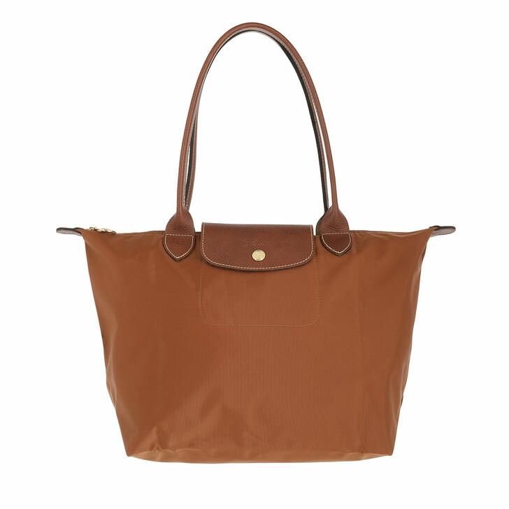 bags, Longchamp, Le Pliage Original Shoulder Bag  Cognac