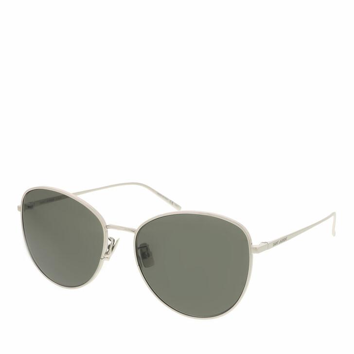 sunglasses, Saint Laurent, SL 486-002 57 Sunglass Woman Metal Silver-Silver-Grey