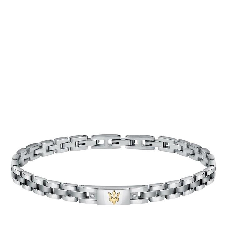 bracelets, Maserati, Bracelet with Diamonds Steel/Silver