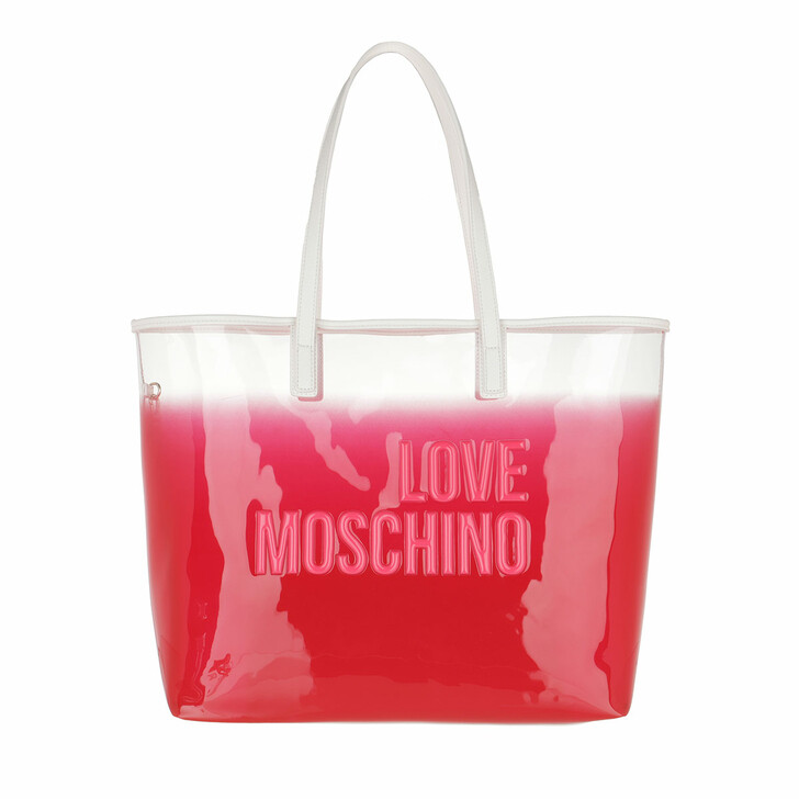 Handtasche, Love Moschino, Borsa Pvc+Pu  Rosa/Bianco