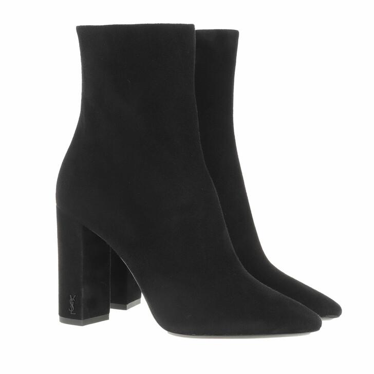 shoes, Saint Laurent, Lou Ankle Boots Leather Black
