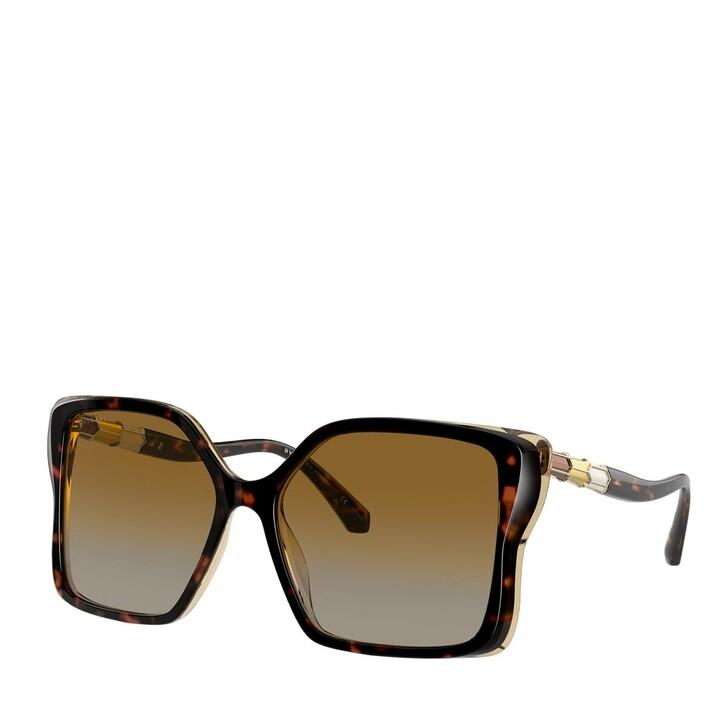 sunglasses, BVLGARI, AZETAT WOMEN SONNE TOP HAVANA/AMBER/YELLOW TRANSP