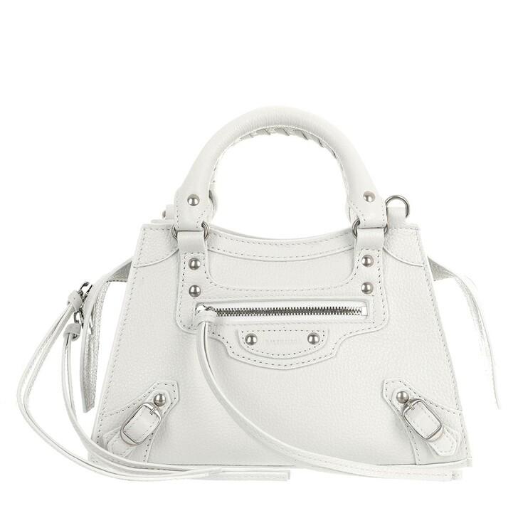 Handtasche, Balenciaga, Neo Classic Mini Top Handle Bag Grained Calfskin White