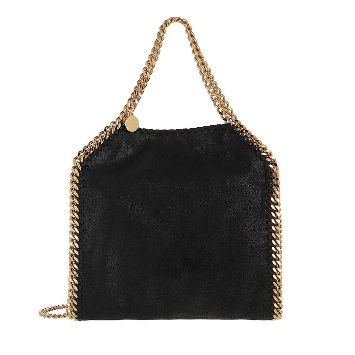 bags, Stella McCartney, Mini Falabella 3Chains Tote Black Gold